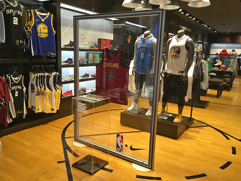 NBA footlocker display in-store